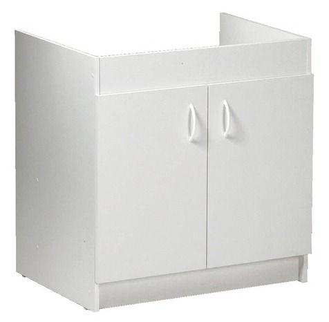 perfect uac bricodpot meuble sousvier blanc portes cm p mm with comment fabriquer un meuble sous. Black Bedroom Furniture Sets. Home Design Ideas