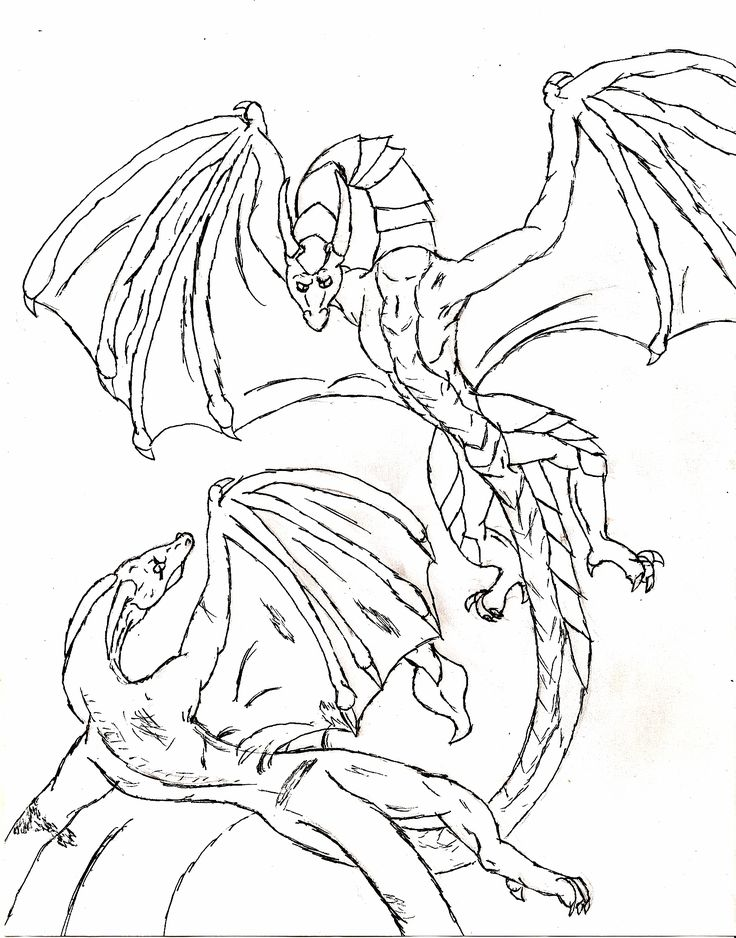dragon fight coloring pages for kids printable dragons coloring pages for kids - Dragonvale Dragons Coloring Pages