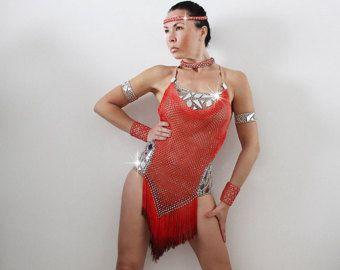 Abito cha-cha tango rumba  danze latino americane  Costume