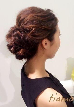 ドレスから和装へチェンジ!ルーズな4スタイル♡リハ篇  大人可愛いブライダルヘアメイク『tiamo』の結婚カタログ