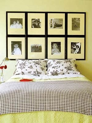 10 Headboards You Can Make for Under $50  use botanical prints and chalk paint