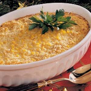 Scalloped Corn - made this for dinner last night and it was a huge hit. Tip: if using frozen corn, thaw it out because it freezes the beaten eggs.