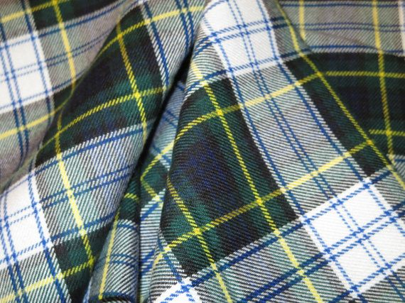 Dress Gordon Tartan Plaid Fabric Poly Viscose by SOHOSKIRTS