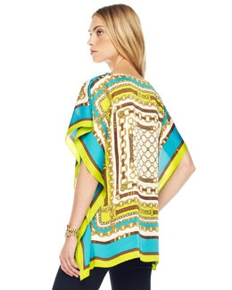This is a very slimming top in a scarf print also could be a great beach cover up do you think this is great for this summer what if you could buy one similar from me???