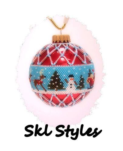 Santa and Reindeer woven Delica bead Christmas by SKLstyles