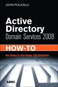 Active Directory Domain Services 2008 How-To Pdf Download e-Book