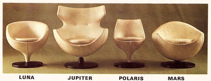 Fauteuils luna jupiter polaris ma - Pierre guariche fauteuil ...