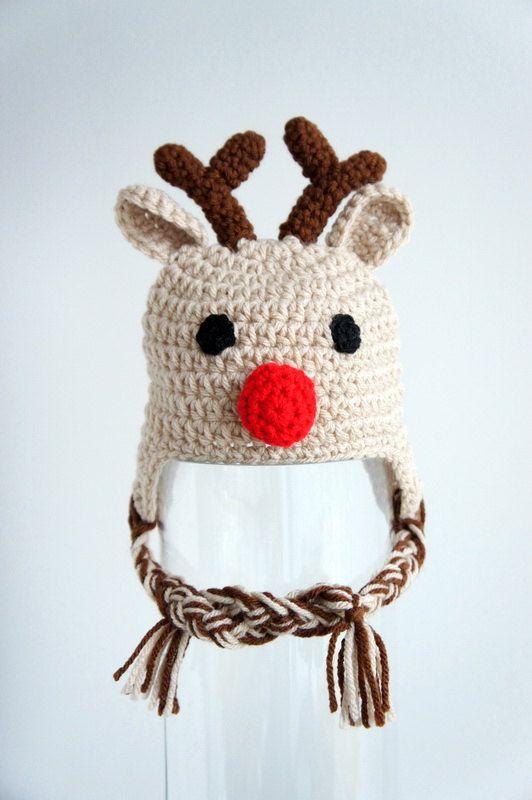 Crochet Reindeer Hat Pattern For Dog : 1000+ ideas about Reindeer Hat on Pinterest Reindeer ...