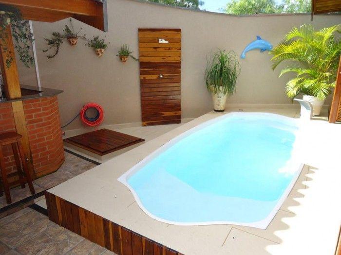 78 ideias sobre piscina de alvenaria no pinterest - Pisina de fibra ...