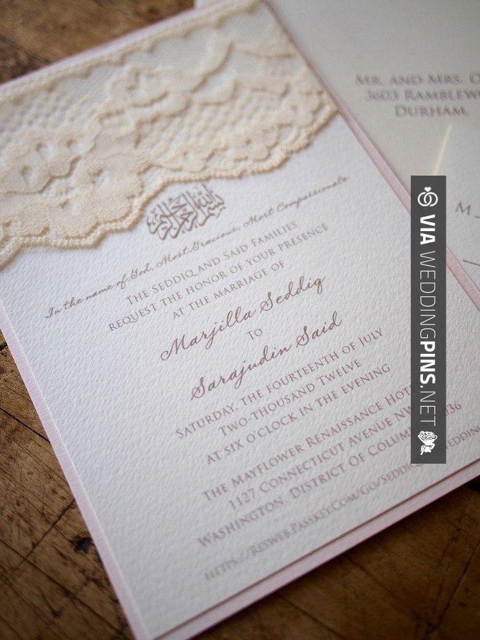 deer hunter wedding invitations%0A Love this  Oraciones para invitaciones de boda Love this blush lace wedding  invitation  except
