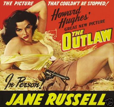 """Jane Russell made some fantastic B-movies - including """"The Outlaw"""" (produced by Howard Hughes!)"""