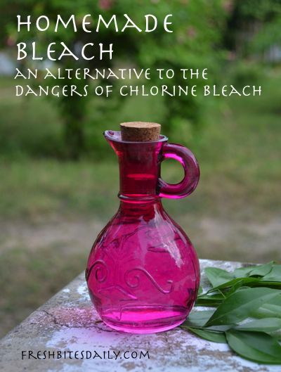 A homemade bleach -- Get it clean without the fumes