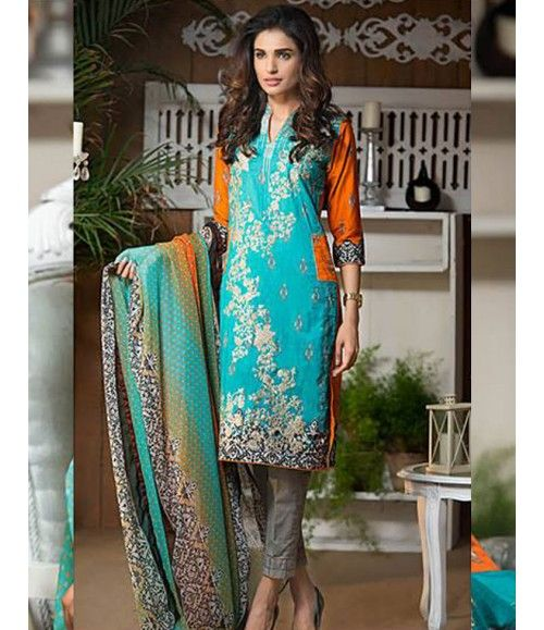Signature Icon Embroidered Lawn Suit Collection Volume ll SI_9A