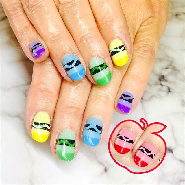 39 best Back to School Nail Art images on Pinterest | School nail ...
