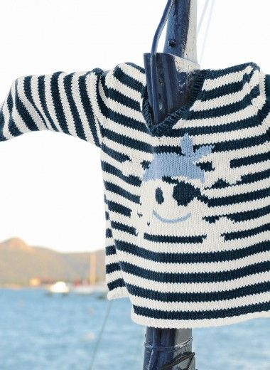 Bergère de France - Mag. 162 - #14 - Pirate sweater - Patterns - yarns and patterns for knitting and crochet