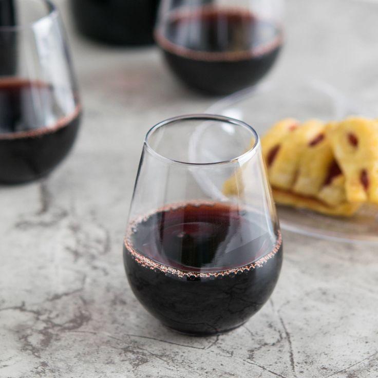 stemless clear plastic wine sampler goblet 64case