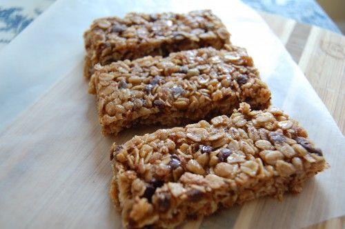 Peanut Butter and Chocolate Granola Bars (like Chewy Quaker granola bars)