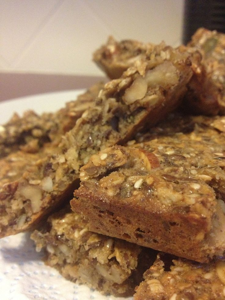 Power snacks - Oat, nut and seed bars. Pop individually wrapped bars in the fridge for a super convenient but healthy snack.