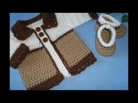 Crochet abrigo o suéter para bebé - YouTube