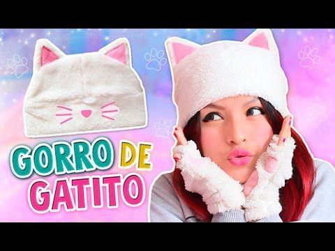 DIY ☆ HAZ TU GORRO OREJAS DE GATO KAWAII ☆ BEANIES CAT (SUPER FÁCIL) l Fabbi Lee - YouTube