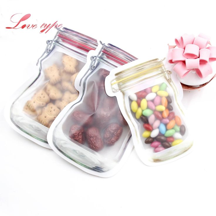 Cheap mason bottle, Buy Quality supply bag directly from China snack bag Suppliers: 5pcs/lot Mason Bottles Plastic Bags Nuts Cookies Candy Snacks Convenient Sealed PE Plastic Bag Home Decoration Storage Supplies