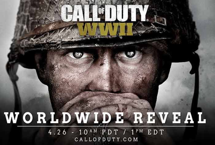 Call Duty WW2 2017 Officially Worldwide RevealUpdate:Activision has officially revealed their brand new WW2 Call of Duty game, from Sledgehammer Games, the developers behind 2014's Call of Duty: Advanced Warfare.    Call Duty WW2 2017 Officially Worldwide Revealwas announced by Activision this evening together with the game's first piece of official box art