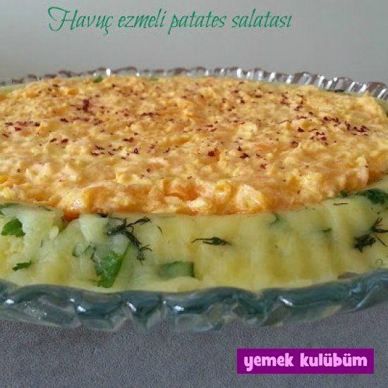 TARİF : Havuç Ezmeli Patates Salatası   #havuç #sağlıklı #patates #hafif #salata #maydanoz #dereotu #limon #mayonez #yoğurt #nefis #salatatarifi