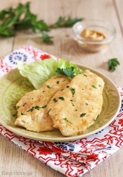 Pollo alla senape e latte, ricetta sfiziosa, light e veloce Dulcisss in forno by Leyla