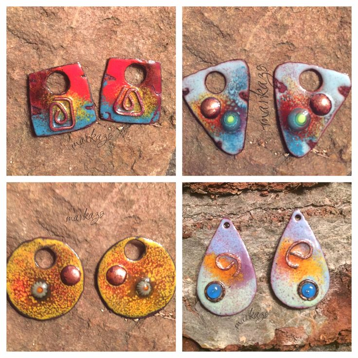 Hand Crafted Enamel House Necklace Pendant Copper Home: 114 Best Copper Enameled Charms, Handcrafted Earring
