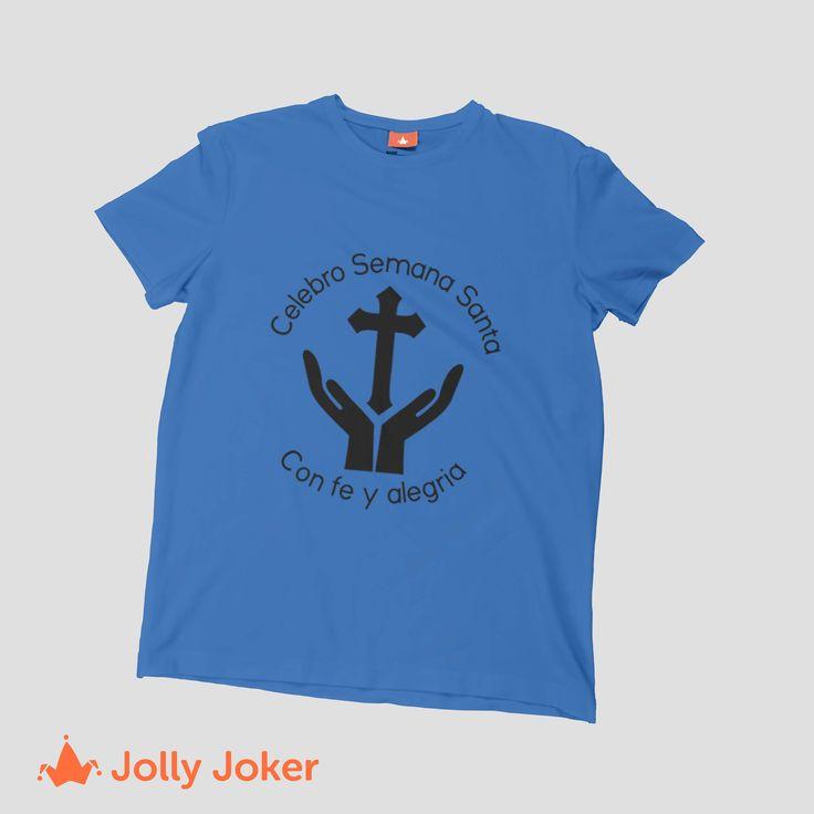 Con fe, alegría, diversión y disfrutando con toda tu familia y amigos. Dales camisetas personalizadas a cada uno! A todos nos gustan las camisetas personalizadas para semana santa :D