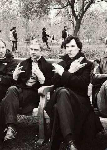 Hahaha XD Benedict Cumberbatch | Sherlock Holmes | Martin Freeman | John