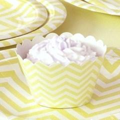 Chevron Yellow Cupcake Wrappers