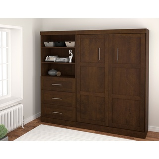 @Overstock - This Wall Bed has a simple and safe piston system that makes opening and closing user-friendly. This Shaker-inspired unit has metal handles and accommodates double size mattress with a maximum thickness of 10 inches.  http://www.overstock.com/Home-Garden/Bestar-Create-Wall-Bed-with-Storage-Unit/7387960/product.html?CID=214117 $1,899.99