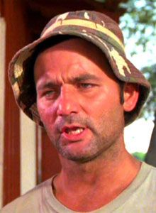 "Caddyshack ""So I jump ship in Hong Kong and I make my way over to Tibet, and I get on as a looper at a course over in the Himalayas, a looper, you know, a caddy, a looper, a jock. So, I tell them I'm a pro jock, and who do you think they give me? The Dalai Lama, himself. Twelfth son of the Lama. The flowing robes, the grace, bald... striking. So, I'm on the first tee with him. I give him the driver. He hauls off and whacks one - big hitter, the Lama - long, into a ten-thousand foot crevasse…"