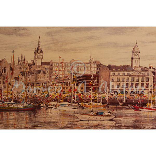 Maritime Masts by Morven A. Alston. Artwork created in: Aberdeen, Scotland
