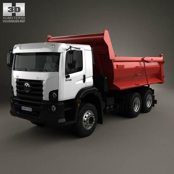 Volkswagen Constellation Tipper Truck 2011 3d model from humster3d.com. Price: $75