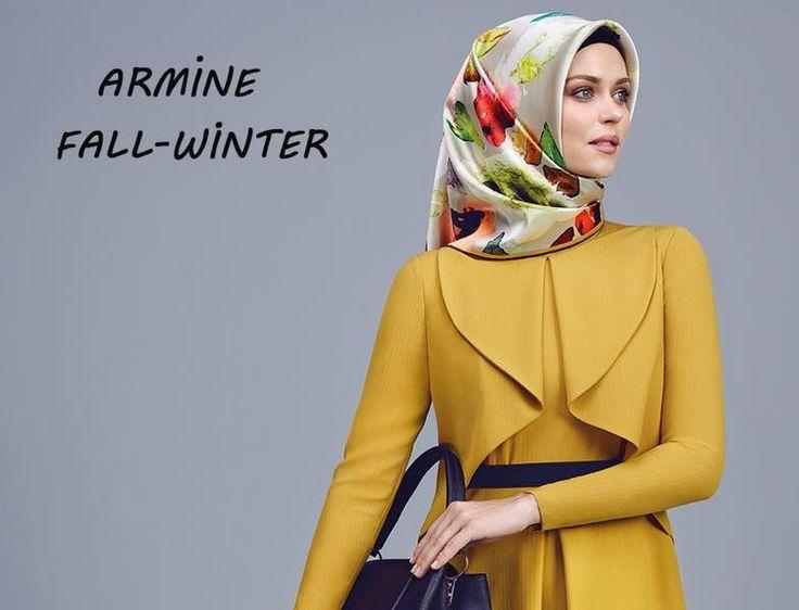 Armine 2015-2016 Sonbahar Kış Koleksiyonu -  Sarı Elbise Modeli http://www.yesiltopuklar.com/armine-2015-16-sonbahar-kis-koleksiyonu.html