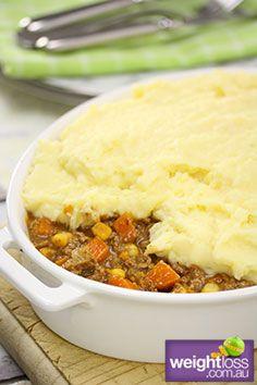 Low Fat Recipes: Traditional Shepherds Pie. #HealthyRecipes #DietRecipes #WeightlossRecipes weightloss.com.au