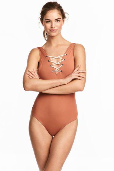 Costume intero con lacci - Ruggine - DONNA | H&M IT 1