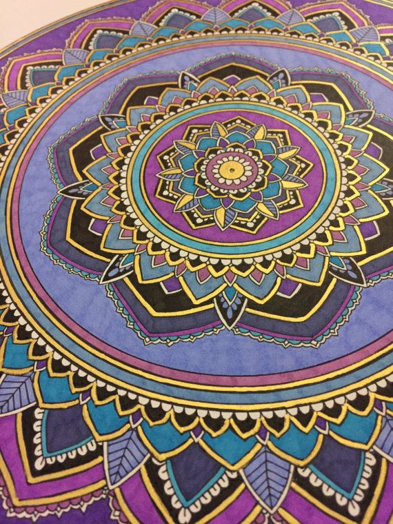 Bright and colorful Mandala drawing in pen and ink on multi-media paper. This is the original drawing, not a print. Please allow some imperfections as it is a hand drawn design. The piece comes unframed. Paper size: 11x14 inches Mandala size: 10 inches This is ready to ship. If you order more than one piece they will be shipped together and I will not charge shipping for each item. <3 <3 <3