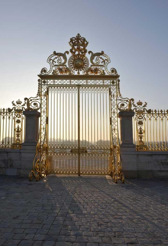 The golden gates of Versailles - where my facebook profile picture was taken :)