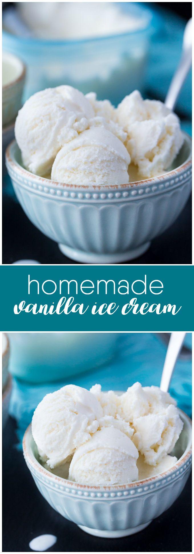 Homemade Vanilla Ice Cream - Creamy and indulgent with a pure sweet vanilla flavour.