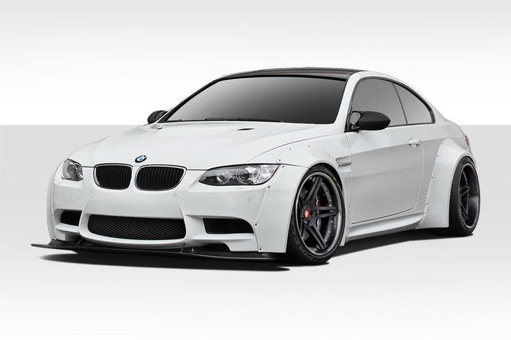 2007-2013 BMW M3 E92 E93 Duraflex Circuit Wide Body Kit - 12 Piece - Includes Circuit Front Fender Flares (112599), Circuit Rear Fender Flares (112600), Circuit Front Lip (112598), Circuit Rear Bumper