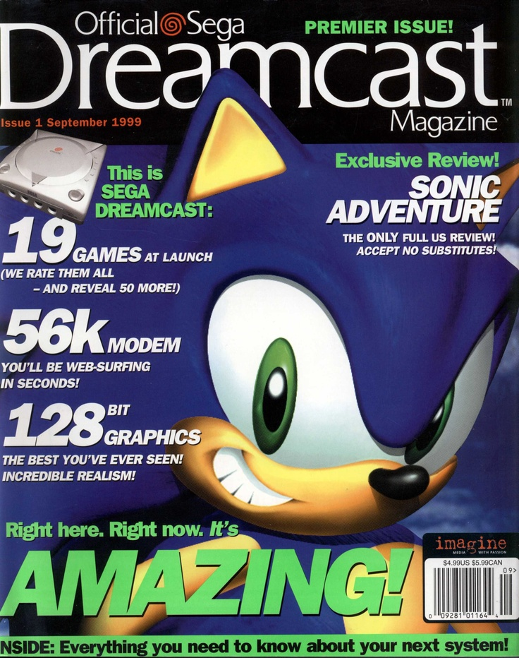 Official Sega Dreamcast Magazine Premiere Issue