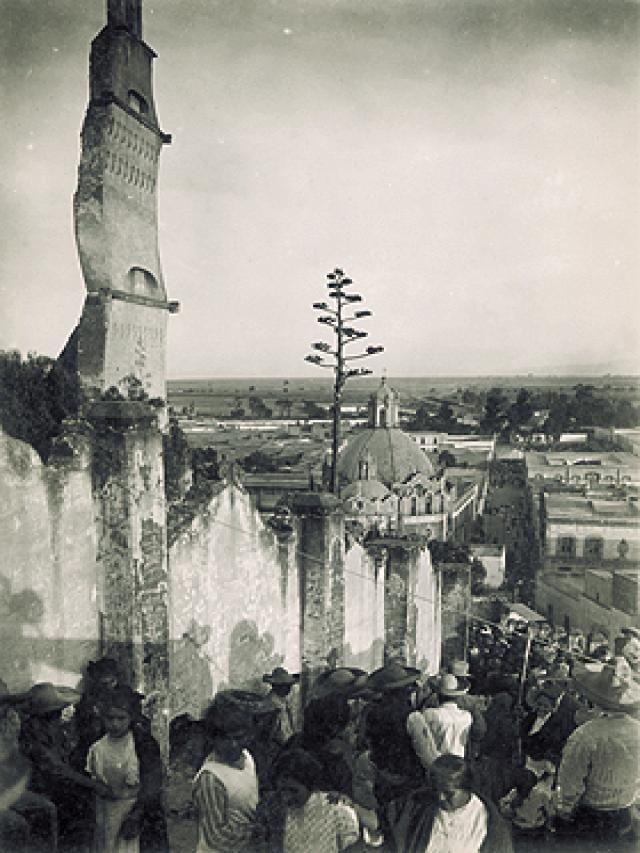 Vista de la zona aledaña a la Villa de Guadalupe, desde el Cerro del Tepeyac, en la Ciudad de México.