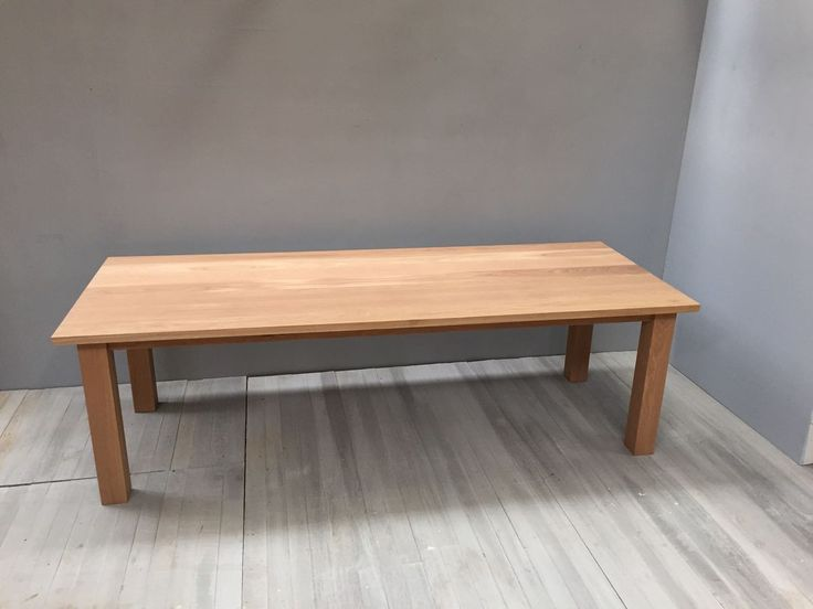 contemporary solid oak dining table - product image