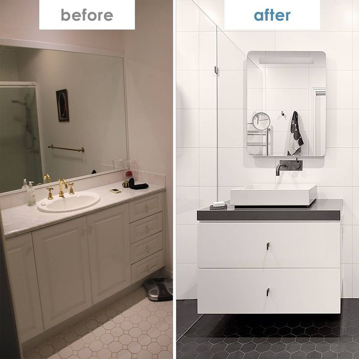 We've shared the lovely work of @helenmcvean in the past but we needed to show the extent of her transformative power! Dull to delightful by going from beige to monochrome magic, this is a great before and after demonstrating that keeping things simple can still make a massive difference. We particularly love the Sussex Scala tap in gun metal - really brings the space together!