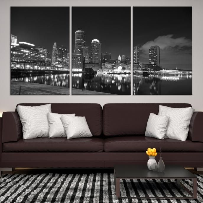 24150   Boston City Decorative Wall Art Canvas Print   Boston Skyline,  Boston, Boston Canvas, Boston Wall Art, Canvas Print, Boston Print, Wall Art