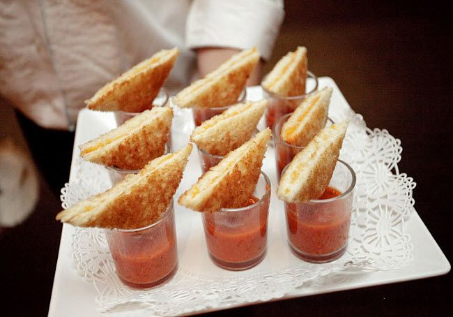 Grilled Chees w/ Tomato Soup Shooters - perfect comfort-food appetizer??