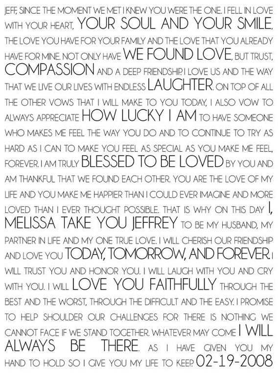 writing your own wedding vows samples See numerous examples of wedding vows and learn how to write your own.